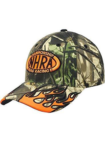 NHRA Orange Flame Camo Hat ()