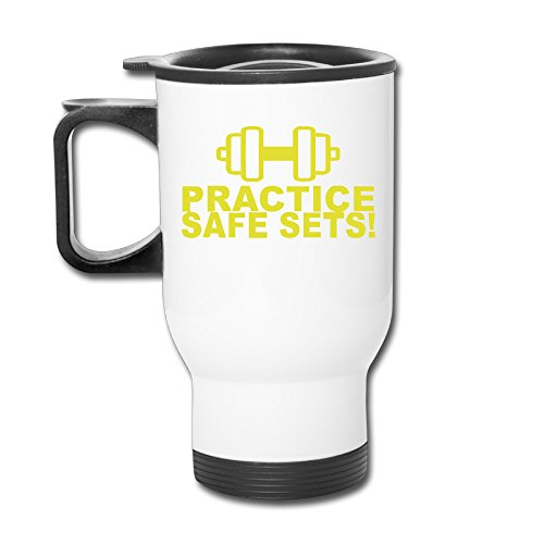 TRAVE Safe Sex Train Gym Workout Funny White Coffee Or Tea Cup Travel Mug