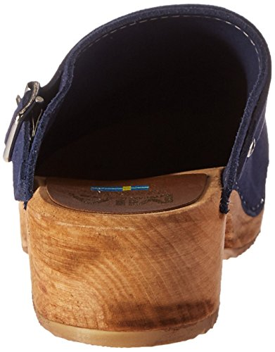 MIA Women's Alma Mule, Black Leather, 6 M US Blue