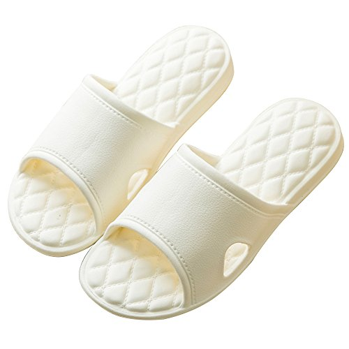 Sandals Outdoor Slippers Bath Indoor Toe Couples Anti Women Bathroom House Men Summer Open Shower amp;KATE WILLIAM White Slip qwRPZZ