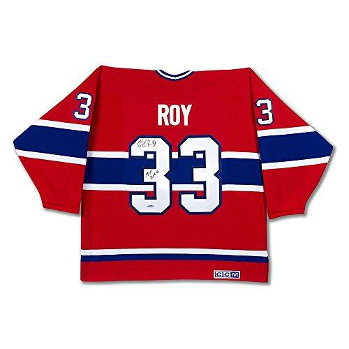 Patrick Roy Hand Signed (Patrick Roy Hand Signed Authentic Jersey Montreal Canadiens HOF 2006 CCM UDA)