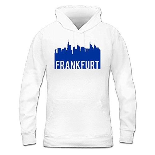 Sudadera con capucha de mujer Frankfurt Skyline by Shirtcity Blanco