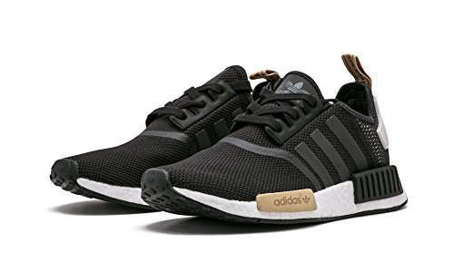 adidas Originals NMD_R1 Womens Running Trainers Sneakers Black, Sand-white