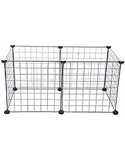 HOMYL Dog Pet Playpen Heavy Duty Metal Exercise Fence 6- Panel DIY Assemly 35x35cm (Black)
