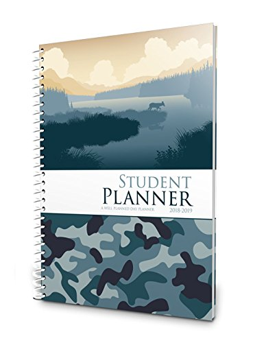 Well Planned Day, Student Planner Camo Style, July 2018 - June 2019