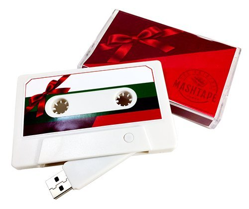 The Original MASHTAPE—Holiday Christmas Gift Design, 8GB USB Cassette Flash Drive (Few Songs Modern Christmas)