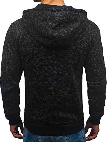 Bolf Nero – Cappuccio Con Pullover 1a1 Sweat A Zip 33025 Felpa shirt Uomo rHrxwZqfF