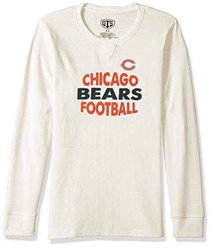 new product b3b01 5203d NFL Chicago Bears Female NFL OTS long-sleeve Waffle Distressed, Cream, Large