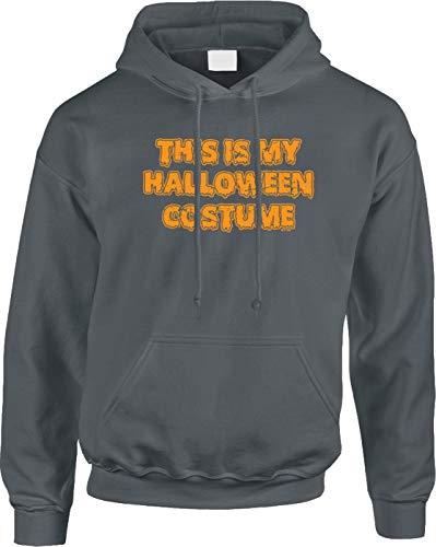 (Blittzen Mens Hoodie This is My Halloween Costume - Funny, S,)