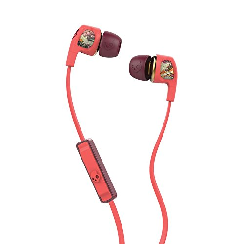 Skullcandy S2PGGY-419 Dime Women's In-Ear Headphones with Earbud, Mic & Remote, Coral/Floral/Burgundy