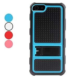 Dots caso duro del diseño con soporte para el iphone 5/5s (colores surtidos) , Rojo