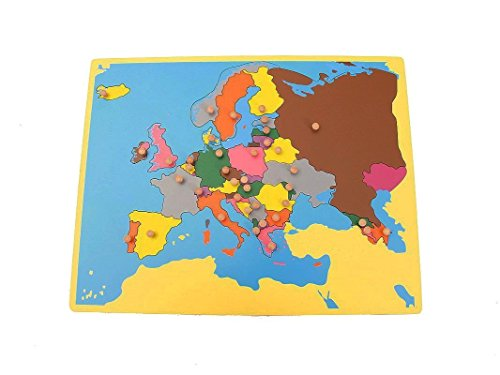 Montessori Early Childhood Educational Materials - Geography Family Set Small Europe Board Puzzle by PinkMontessori