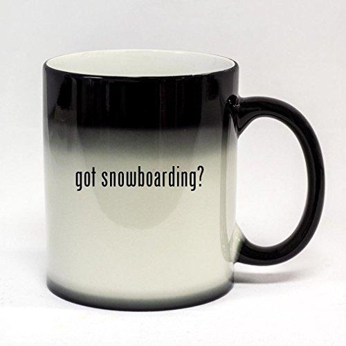 got snowboarding? - 11oz Black Color Changing Coffee Mug (Black Got Snowboarding)