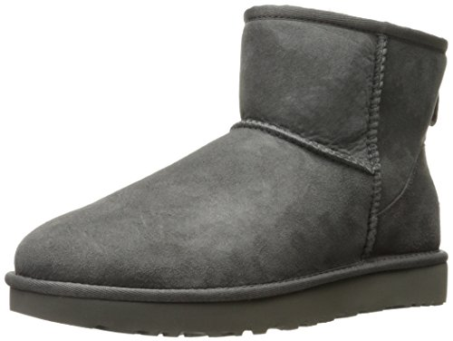 (UGG Women's Classic Mini II Winter Boot, Grey, 7 B US)