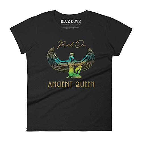 Rock on Ancient Queen Women's Fit T-Shirt, Tee, Stevie Nicks Gold Dust Woman Vintage Style Ombre Isis Boho Festival Outfit S-2XL, Fleetwood Concert Tee by BLUE DOVE