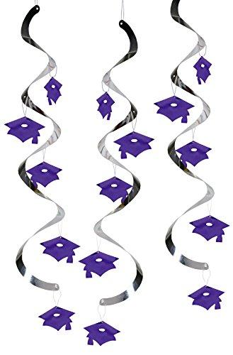 Creative Converting Graduation Danglers Purple
