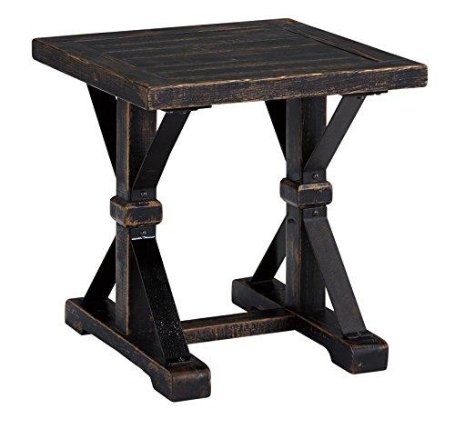 Cheap Ashley Furniture Signature Design – Beckendorf Casual Square End Table – Black