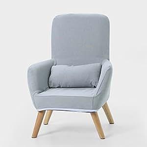 Puffs pera Sofá Individual Silla de Lactancia Silla de Respaldo del sillón Silla de alimentación Taburete (Color : Gris, Tamaño : S)
