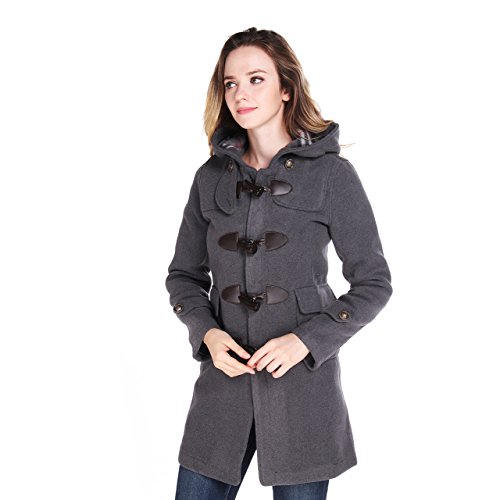 Wool Blend Hooded Coat - 5