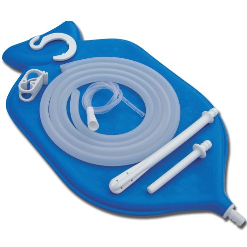 The Perfect Enema Bag Kit in Blue Color for Colon Cleansing With Silicone...