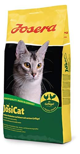 JosiCat Crunchy Poultry (1 x 10 kg) | Premium Trockenfutter für ausgewachsene Katzen | Katzenfutter | powered by JOSERA…