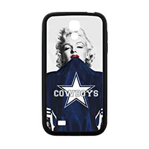 Cheap Marilyn Monroe in NFL Dallas Cowboys blue Jersey Samsung Galaxy S4 I9500 TPU (Laser Technology) case with HD image hjbrhga1544