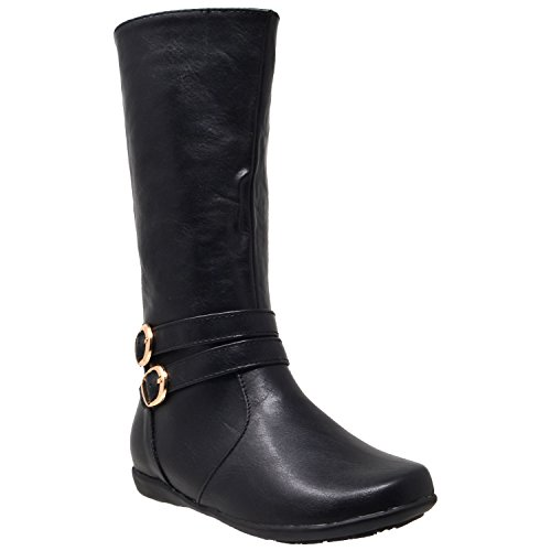 Leather 4 Buckle Boots - 4