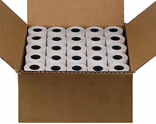 "2 1//4/"" x 50/' Credit Card BPA Free Thermal Paper Rolls Nurit 8000 100 rolls"