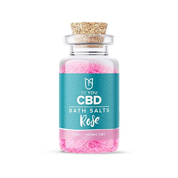 BeYou CBD Infused Bath Salts 100mg, Soothe Sore Muscles, Relax & Restore Tired Muscles, All Natural