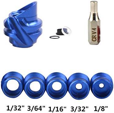 ZSHJG Peep Sight 37//45 Grados Vivienda de Aluminio con 5 Piezas de N/úcleo Interno y Lente Clarificadora Kit de Apertura