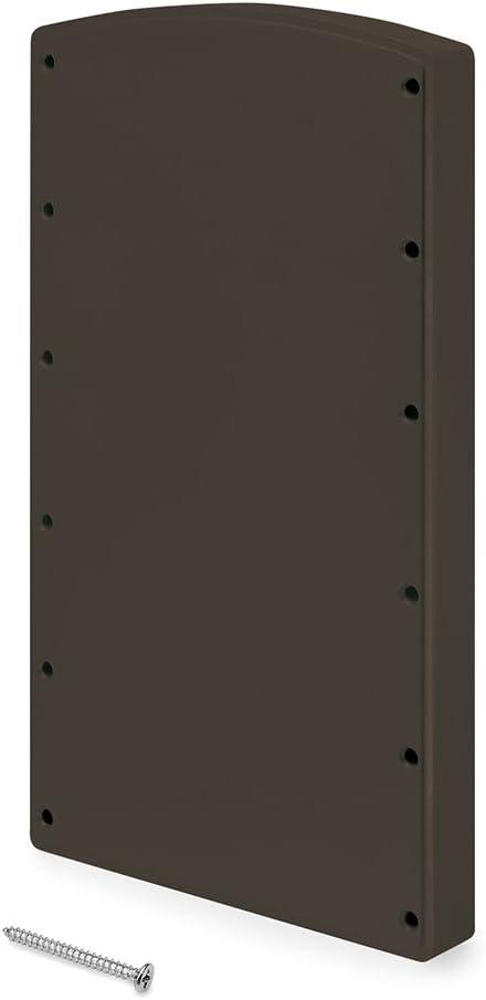 Emuca - Suplemento lateral para montaje de colgador abatible, incluye tornillos, color moka, Lote de 2: Amazon.es: Bricolaje y herramientas