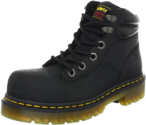 Black ST Martens Greasy Boot Industrial Dr Work Burham q8pwx8F4