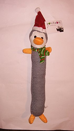 Christmas Loofa (17 Inch Holiday Christmas Brickle Penguin Stick With Loud Squeaker Dog Toy By Patchworks)