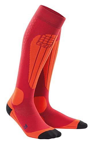 Womens Thermal Compression Ski Socks - CEP Ski Thermo (White/Silver) III