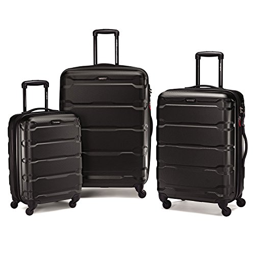 Samsonite Omni PC 3 Piece Set Spinner 20 24 28, Black, One Size by Samsonite