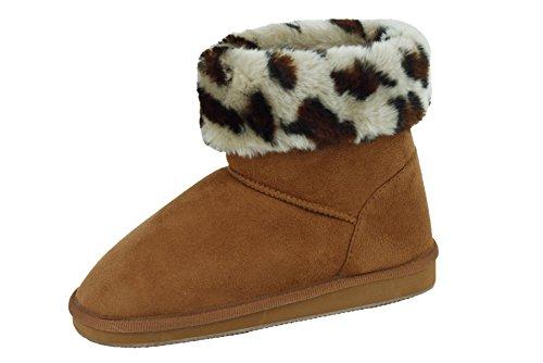 Star Bay Ladies' Faux Fur Ankle Fashion Boots 91014
