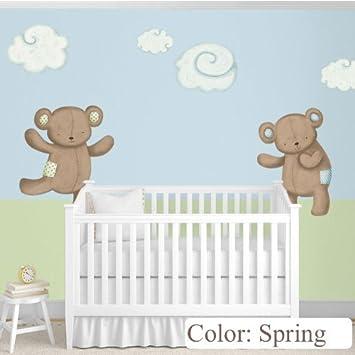 amazon com my wonderful walls nursery wall decor teddy bears decals