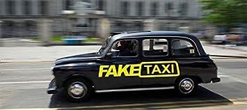 2 x Fake Taxi Sticker Car Surf Vinyl Decal Sticker - JDM