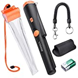 UNIROI Metal Detector with Waterproof Case, PinPointer Metal Detector with Waterproof Probe,360 Degree Scanning,Buzzer, Vibration,LED Indicator and 9V Battery Treasure Hunting Tool (New Version)UD002S