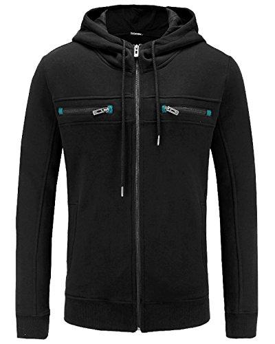 Zip Thermal Hooded Pullover Sweatshirt - 8