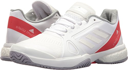 adidas Women's aSMC Barricade Boost White/Dark Callistos/Pearl Grey 5 B US by adidas