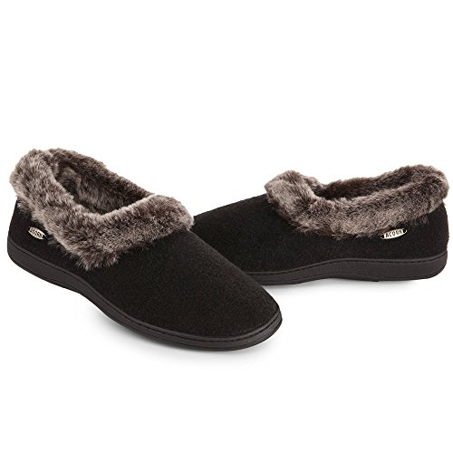 Collar Chinchilla Women's Cleaner Slippers Bundle Black Acorn Oxy amp; 5CEx4d5n1