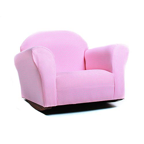 - KEET Roundy Rocking Kid's Chair Gingham, Pink