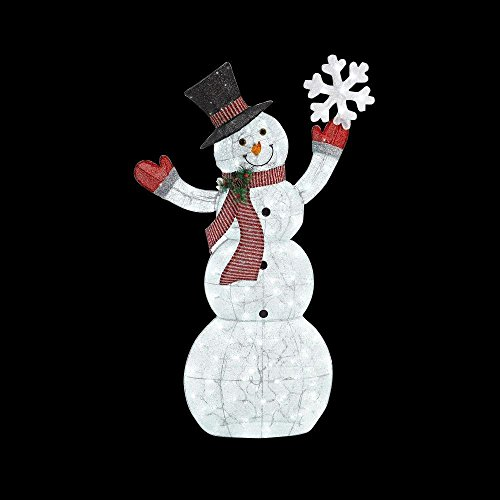 Outdoor snowman decorations lighted amazon led lighted acrylic snowman with snowflake christmas decoration workwithnaturefo