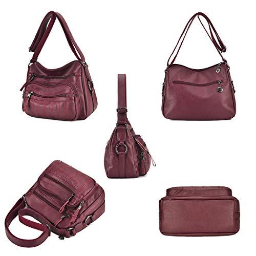 Borse moda Tote le tracolla per Exull a morbida 6113 rete borsa spalla staccabile con Hobo donne a quotidiano tracolla donne PU lavoro pelle uso 1Z01w