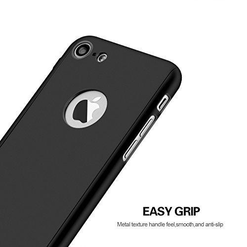 Funda iPhone 5 5s SE 360 Grados Integral Para Ambas Caras + Protector de Pantalla de Vidrio Templado,[ 360 ° ] [ Oro ] Case / Cover / Carcasa iPhone 5 5s SE (2017)