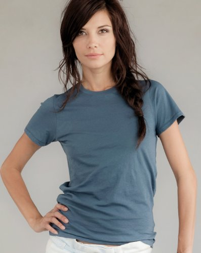 Alternative Apparel Organic Basic Crewneck Tee Shirt, 3XL, Earth Ocean