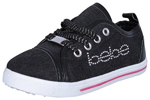 bebe Girls Low Top Canvas Fashion Sneakers (Toddler/Little Kid/Big Kid)