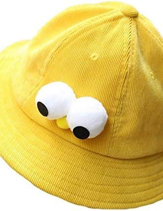 Cream-Colored Unique Cute Cute Corduroy Cartoon Chicken Bucket Hats hat Cap Children Girls Spring Summer Sun Paternity