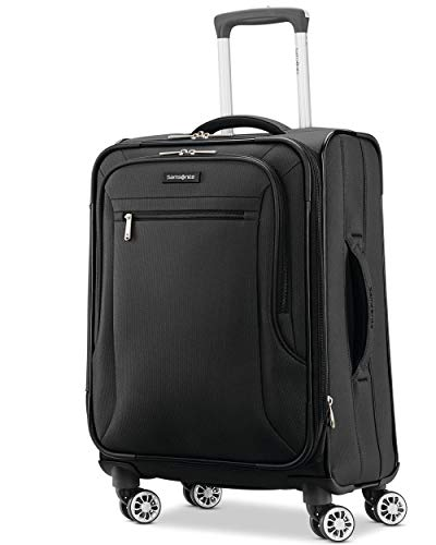 Samsonite Ascella X Softside Expandable Luggage with Spinner Wheels, Black, Carry-On 20-Inch